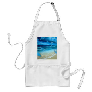 Prostate Cancer Ribbons Floaing Over the Beach Adult Apron