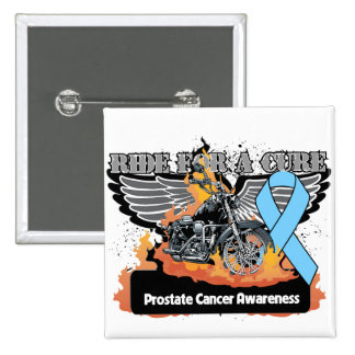Prostate Cancer Ride For a Cure 2 Inch Square Button