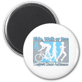 Prostate Cancer Ride Walk Run Refrigerator Magnets