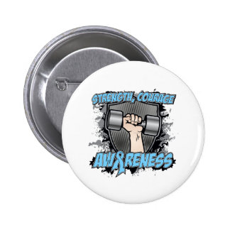Prostate Cancer Strength Courage Men Pinback Button