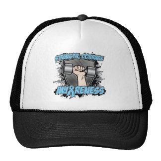 Prostate Cancer Strength Courage Men Trucker Hat