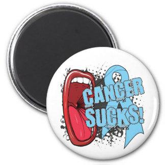 Prostate Cancer Sucks Scream It 2 Inch Round Magnet