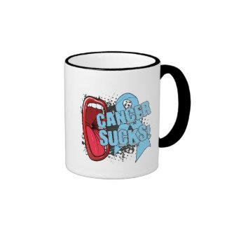 Prostate Cancer Sucks Scream It Ringer Coffee Mug