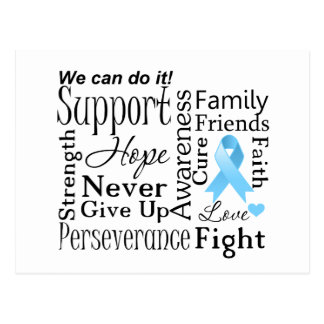 Prostate Cancer Supportive Words Postcard