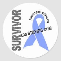 Prostate Cancer Survivor 1 Classic Round Sticker