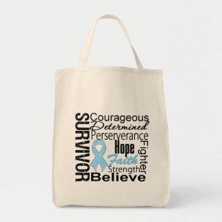 Prostate Cancer Survivor Collage Tote Bag