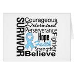 Prostate Cancer Survivor Collage Greeting Card
