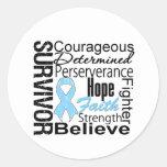 Prostate Cancer Survivor Collage Round Sticker
