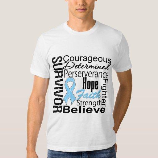 Prostate Cancer Survivor Collage Tee Shirts