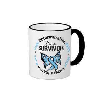 Prostate Cancer Survivor Hope Determination Faith Ringer Mug
