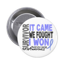 Prostate Cancer Survivor It Came We Fought I Won Button