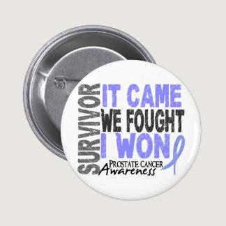 Prostate Cancer Survivor It Came We Fought I Won Button