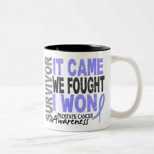 Prostate Cancer Survivor It Came We Fought I Won Coffee Mugs