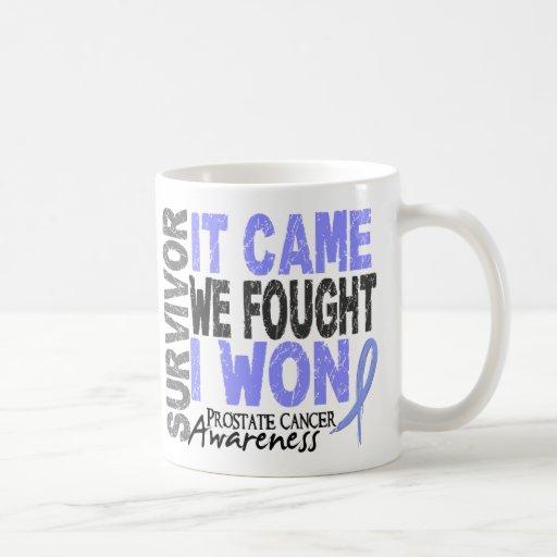 Prostate Cancer Survivor It Came We Fought I Won Mugs