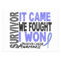 Prostate Cancer Survivor It Came We Fought I Won Postcard