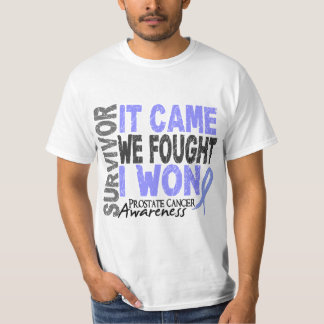 Prostate Cancer Survivor It Came We Fought I Won T-Shirt