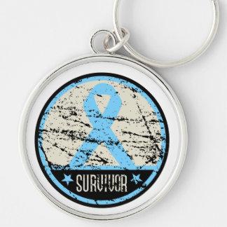Prostate Cancer Survivor Mens Vintage Key Chain