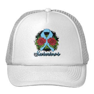 Prostate Cancer Survivor Rose Grunge Tattoo Trucker Hat