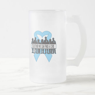 Prostate Cancer Together We Can Find A Cure 16 Oz Frosted Glass Beer Mug