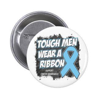 Prostate Cancer Tough Men Wear A Ribbon Pinback Button