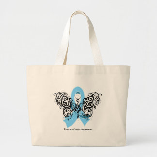 Prostate Cancer Tribal Butterfly Ribbon Jumbo Tote Bag