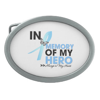 Prostate Cancer Tribute In Memory of My Hero Oval Belt Buckle