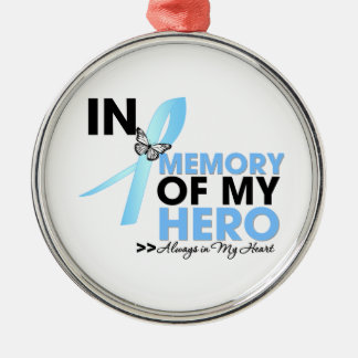 Prostate Cancer Tribute In Memory of My Hero Christmas Tree Ornaments