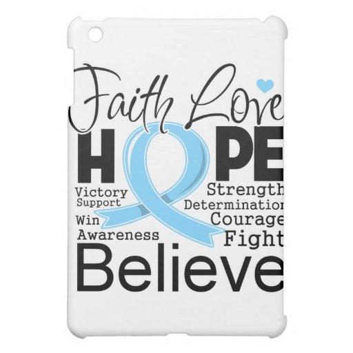 Prostate Cancer Typographic Faith Love Hope iPad Mini Cases
