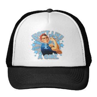 Prostate Cancer Vintage Rosie Fight Like A Girl Trucker Hat