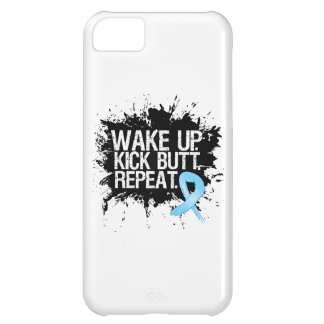 Prostate Cancer Wake Up Kick Butt Repeat Cover For iPhone 5C