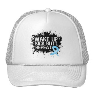 Prostate Cancer Wake Up Kick Butt Repeat Trucker Hats