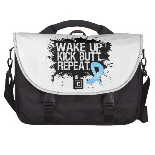 Prostate Cancer Wake Up...Kick Butt...Repeat Laptop Bag