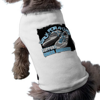 Prostate Cancer Walk For A Cure Shoes Dog T-shirt