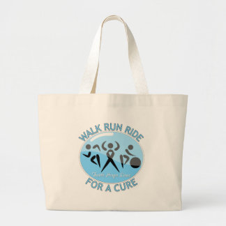 Prostate Cancer Walk Run Ride For A Cure Canvas Bags