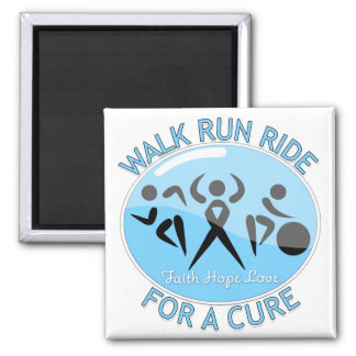 Prostate Cancer Walk Run Ride For A Cure Refrigerator Magnet