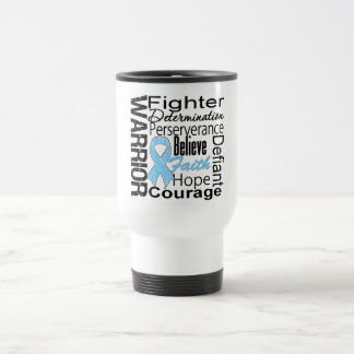 Prostate Cancer Warrior Collage Coffee Mugs