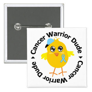 Prostate Cancer Warrior Dude Pinback Button