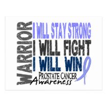 Prostate Cancer Warrior Postcard