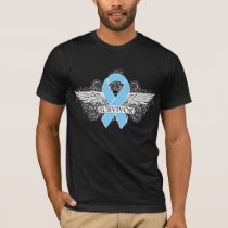 Prostate Cancer Winged SURVIVOR Ribbon T-Shirt