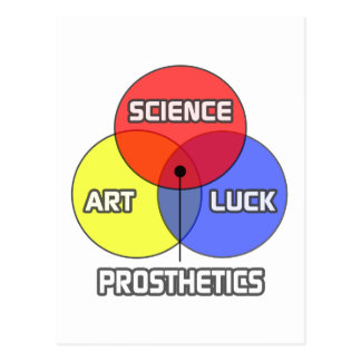 Prosthetics .. Science Art Luck Postcard