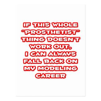 Prosthetist Humor ... Modeling Career Postcard