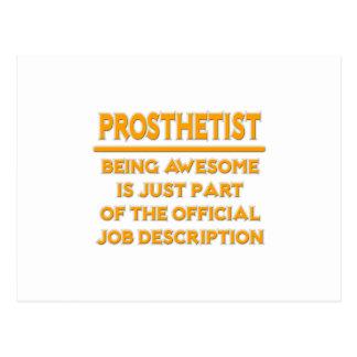 Prosthetist .. Official Job Description Postcard