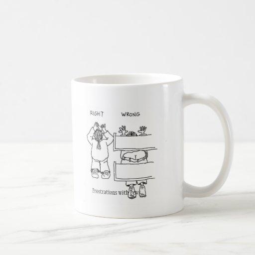 Prostraciones con los bancos tazas de café