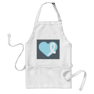 Prostrate Cancer Light Blue Heart apron