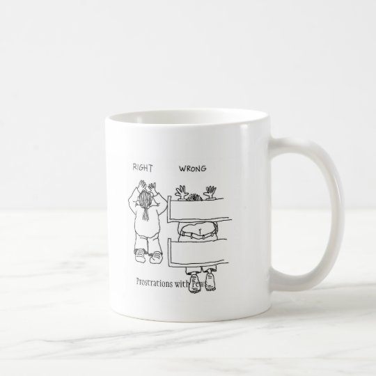 Prostrations with Pews Coffee Mug