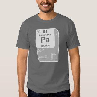 Protactinium (Pa) Playeras