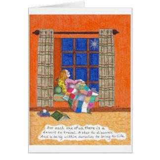 Protagonice para descubrir tarjeta de felicitación