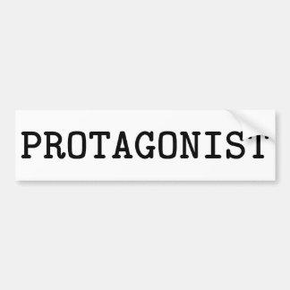 Protagonist Car Bumper Sticker