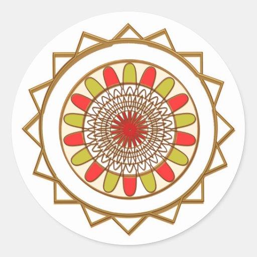PROTAGONIZA círculos perfectos de n:  Modelo de Pegatina Redonda