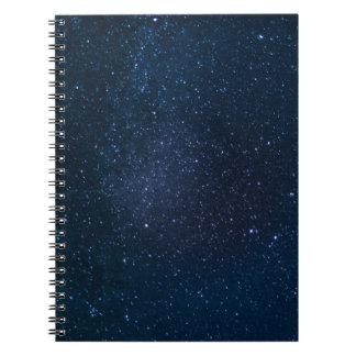 Protagoniza el cielo nocturno libro de apuntes con espiral